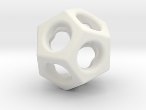 Dodecahedron - thick web in White Natural Versatile Plastic