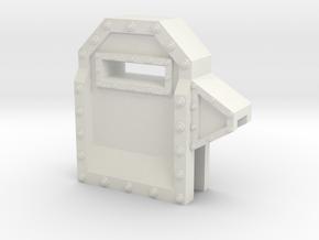 Wall Segment Left Gun Port in White Natural Versatile Plastic