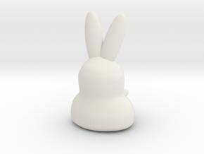 Coniglietto Hilly in White Natural Versatile Plastic