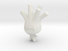 Leek Boy in White Natural Versatile Plastic