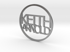 Personalized coin Keith Arnold v3 in Natural Silver