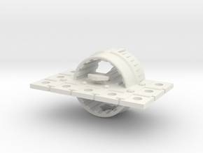 Zyphon Mushroom Class Heavy Cruiser in White Natural Versatile Plastic