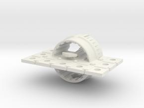 Zyphon Mushroom Class Heavy Cruiser in White Strong & Flexible