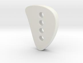 Xtraveganza Button in White Natural Versatile Plastic