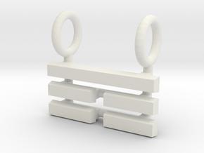 I Ching Trigram Pendant - Ken Upper in White Natural Versatile Plastic