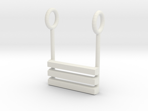 I Ching Trigram Pendant - Ch'ien Lower in White Natural Versatile Plastic