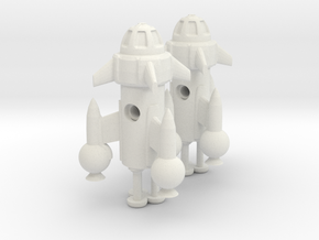 "R-Rocket ""Mercury""-Class Tiny in White Natural Versatile Plastic"