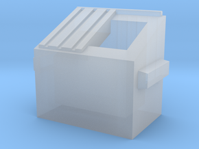 Dumpster - Z scale in Smooth Fine Detail Plastic