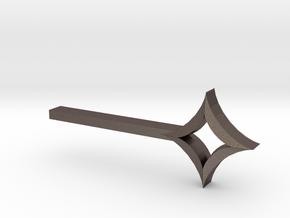 Star Key in Polished Bronzed Silver Steel