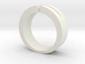 Split Ring in White Natural Versatile Plastic