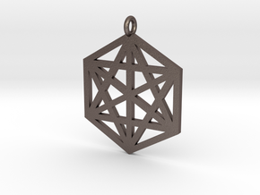 Hexagram 40mm 2mm square in Stainless Steel
