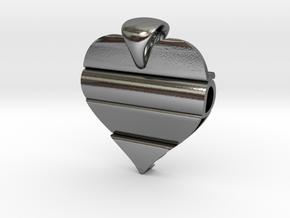 Secret Love Pendant in Polished Silver