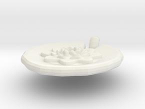 Lily Pendant in White Natural Versatile Plastic