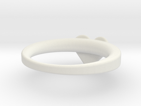 LV RING 18,5mm in White Natural Versatile Plastic