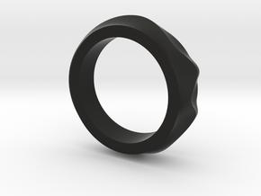 Dune ring in Black Strong & Flexible
