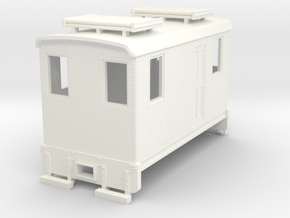 Hon30 short boxcab loco in White Strong & Flexible Polished