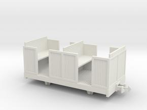 O9 4 wheeled coach in White Natural Versatile Plastic