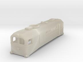 H0e Scale USSR TU2 Locomotive in White Acrylic