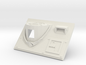 Front Plate Iconic in White Natural Versatile Plastic