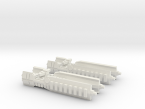 Fleet Scale Series 1: Terran Heavy Cruiser in White Natural Versatile Plastic
