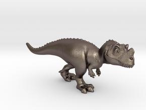 Ceratosaurus Chubbie Krentz in Polished Bronzed Silver Steel