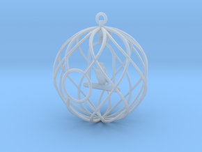 Birdcage Ornament in Smooth Fine Detail Plastic