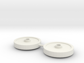 double train wheel in White Natural Versatile Plastic