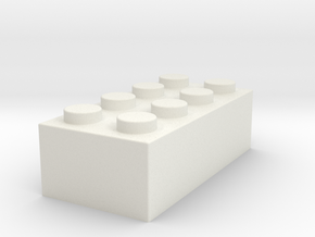 brick2b in White Natural Versatile Plastic
