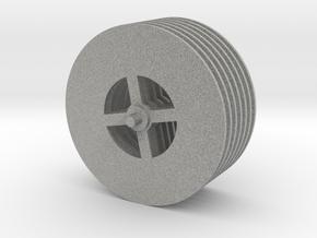 Tesla Turbine Disks Unit in Metallic Plastic