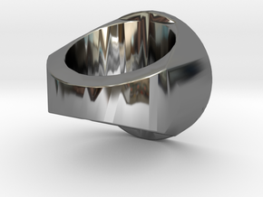 Zegelring Met Tekst in Fine Detail Polished Silver