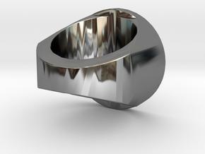 Zegelring Met Tekst in Premium Silver