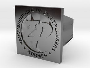 Zwetplassers Zegelring Vierkant in Fine Detail Polished Silver