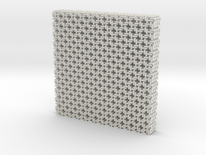 Square Maille flat N coasters (4) in White Natural Versatile Plastic