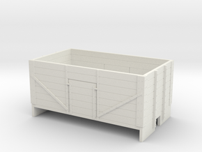 OO9 7 plank mineral wagon  in White Natural Versatile Plastic