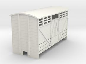 OO9 Cattle van (long) Panel door in White Strong & Flexible