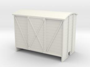 OO9 Goods van - Sliding door in White Strong & Flexible