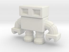 robot 0013 mini - 1.5 inch in White Natural Versatile Plastic