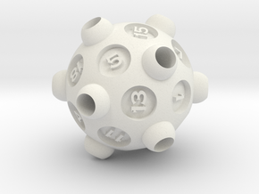 "D20 ""Drained"" in White Strong & Flexible"