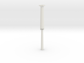Paired 17.5cm Doric Columns - hollow core - Hollo in White Natural Versatile Plastic