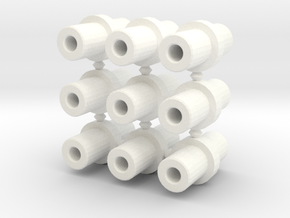 Double-ended 5mm pegs (x9) in White Strong & Flexible Polished