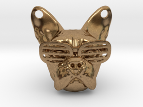 French Bulldog Pendant in Natural Brass