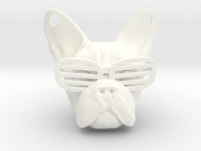French Bulldog Pendant in White Processed Versatile Plastic