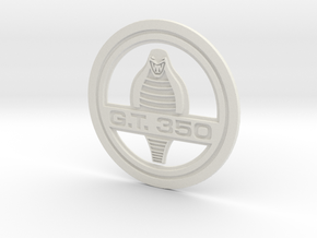 Gt 350 Logo in White Natural Versatile Plastic