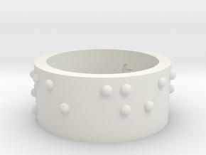 Ring_CarpeDiem_19mmx10mm in White Natural Versatile Plastic
