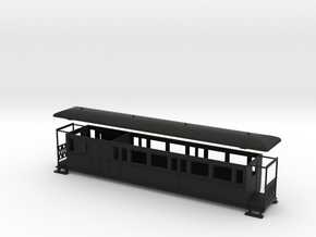 OO9 Large Tramway brake coach in Black Strong & Flexible