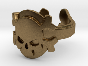 My Skull Ring Design Ring Size 6.75 in Natural Bronze