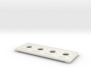right plate in White Natural Versatile Plastic