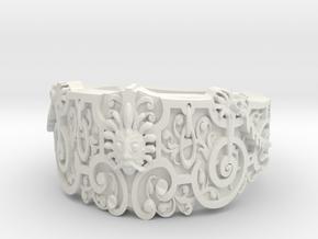 Face Ring in White Natural Versatile Plastic