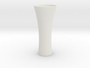 Vase II in White Natural Versatile Plastic