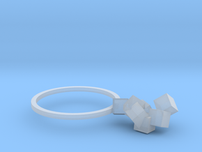 Cubes Ring 03 in Smooth Fine Detail Plastic
